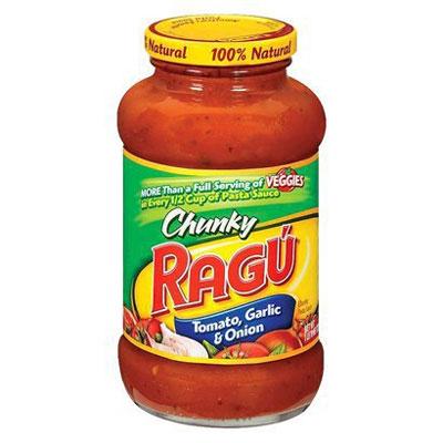 SAU03320 RAGU CHUNKY TOMATO, GARLIC & ONION SAUCE